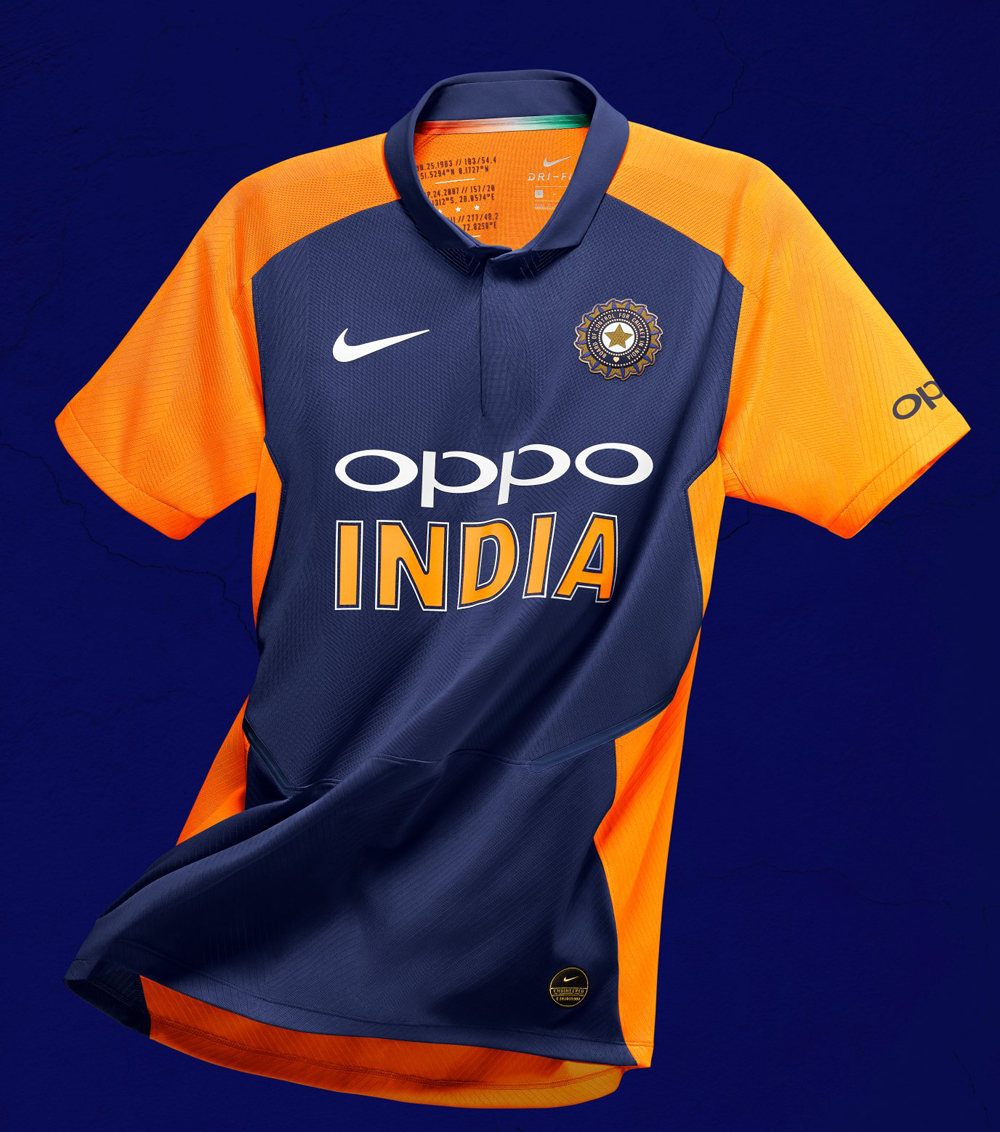 The new jersey with orange prominently on display