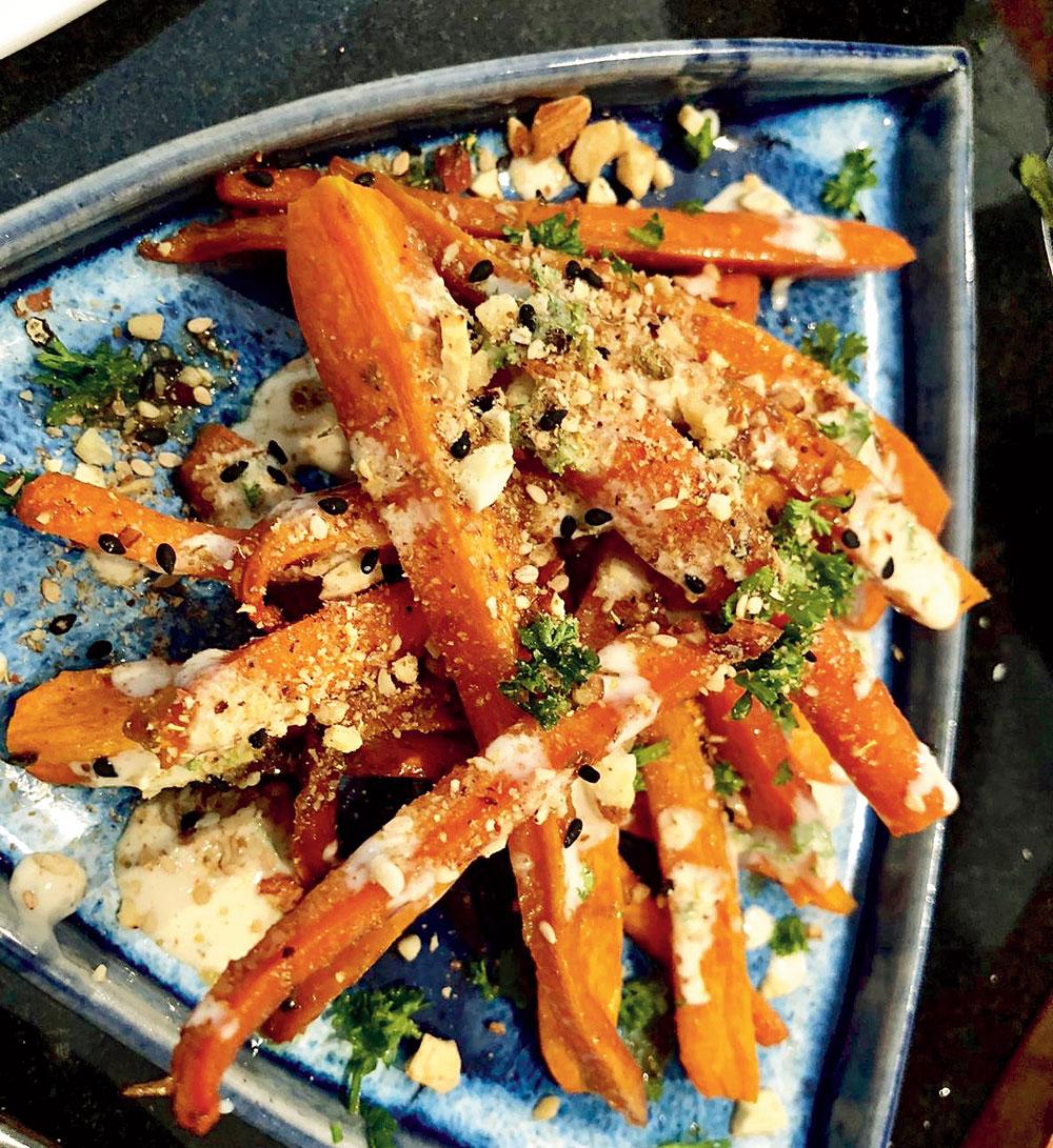Caramelised Sesame Carrots
