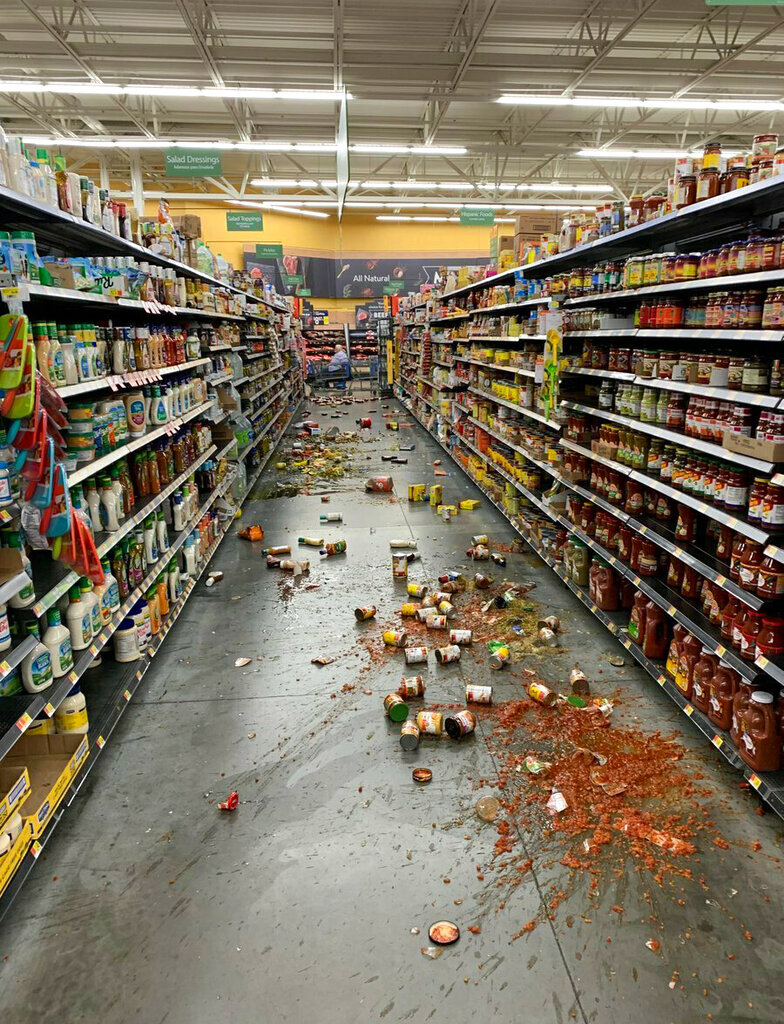 The US Geological Survey reported that the latest earthquake's epicentre was in the Mojave desert, 11 miles from Ridgecrest, California — near where a 6.4-magnitude quake had hit about 36 hours earlier.