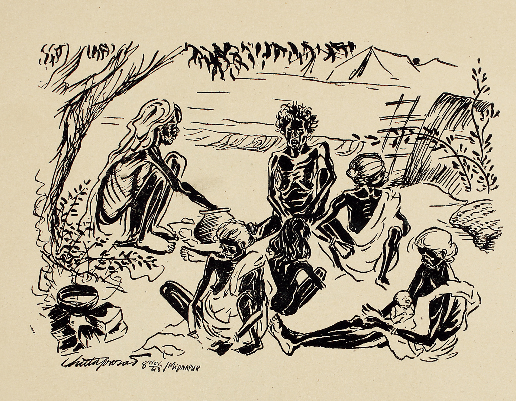 Hungry Bengal: art during the famine