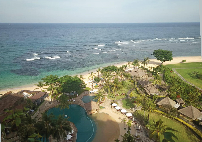 A view of the beach at Nusa Dua