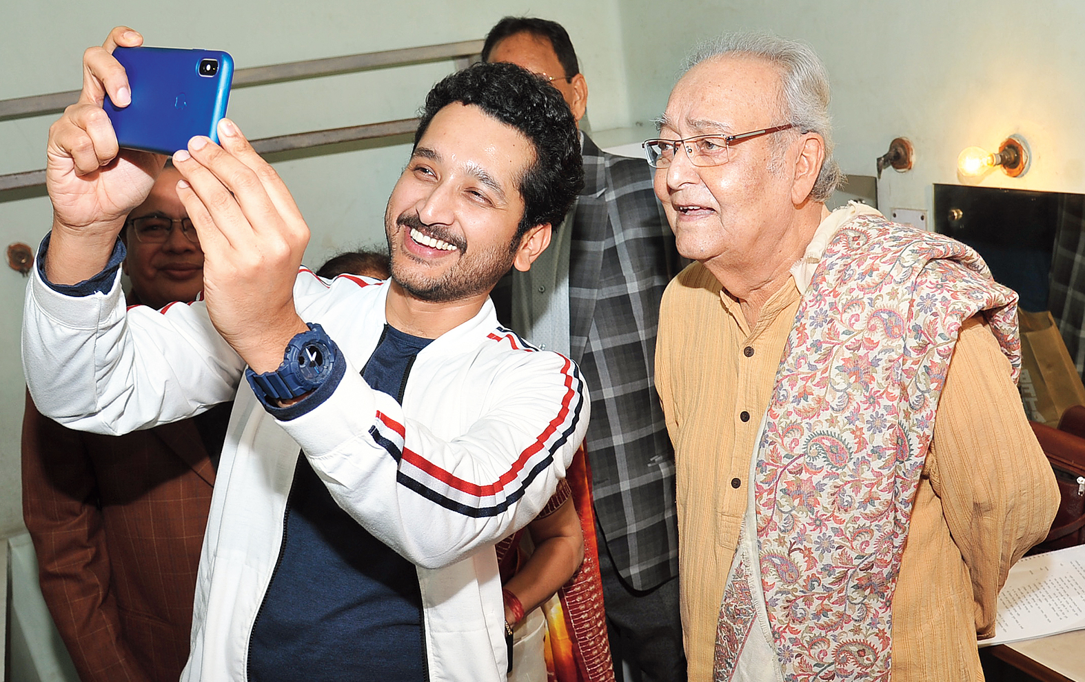 This film is our tribute to him, to somebody who is the last of the living intellectual icons for Bengalis. I think that he is the person who taught us the idea of behavioural performance in Bengali cinema — Parambrata