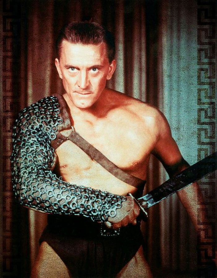 Kirk Douglas in a still from Spartacus (1960)