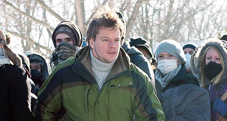 Actor Matt Damon in a scene from Contagion