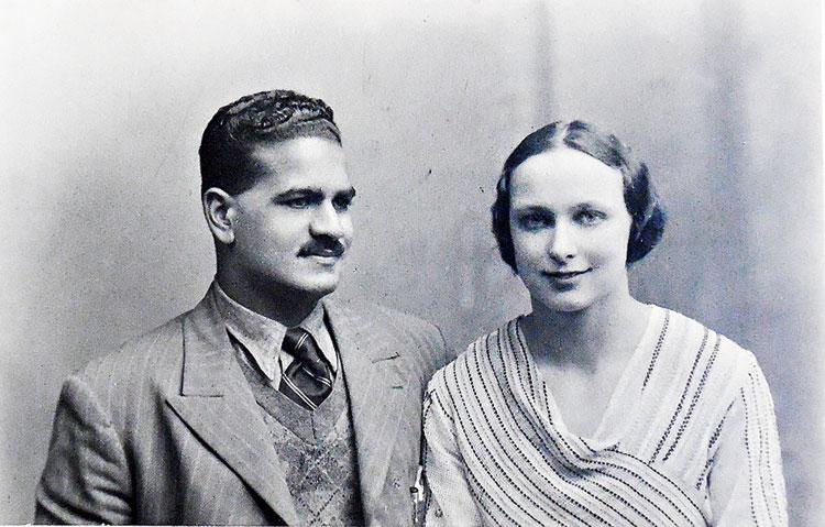 Freda Bedi with her Punjabi husband