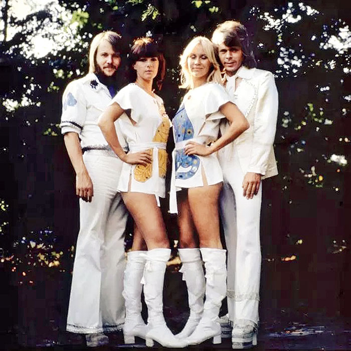 ABBA members Benny, and Anni-Frid, Agnetha, and Bjorn