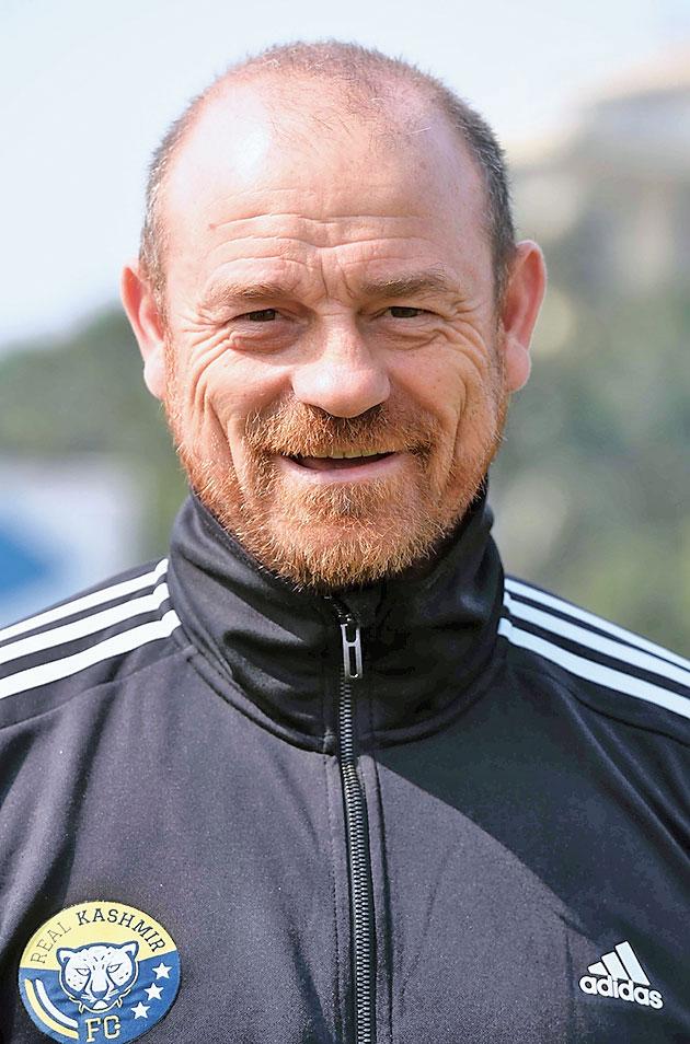 Real Kashmir FC's Scottish coach David Robertson