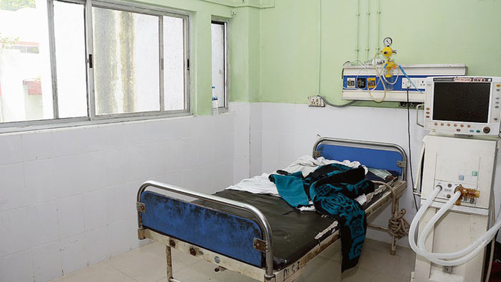 The room at RIMS from where the prisoner escaped