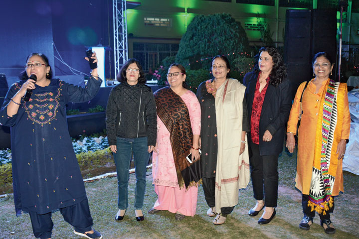 Members of the 1976 batch of Sacred Heart Convent at the alumni meet in Jamshedpur on Saturday.