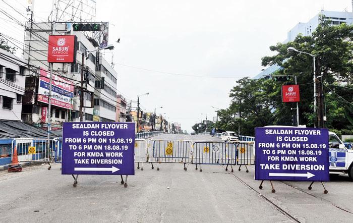 Sealdah flyover closed for health test on Friday