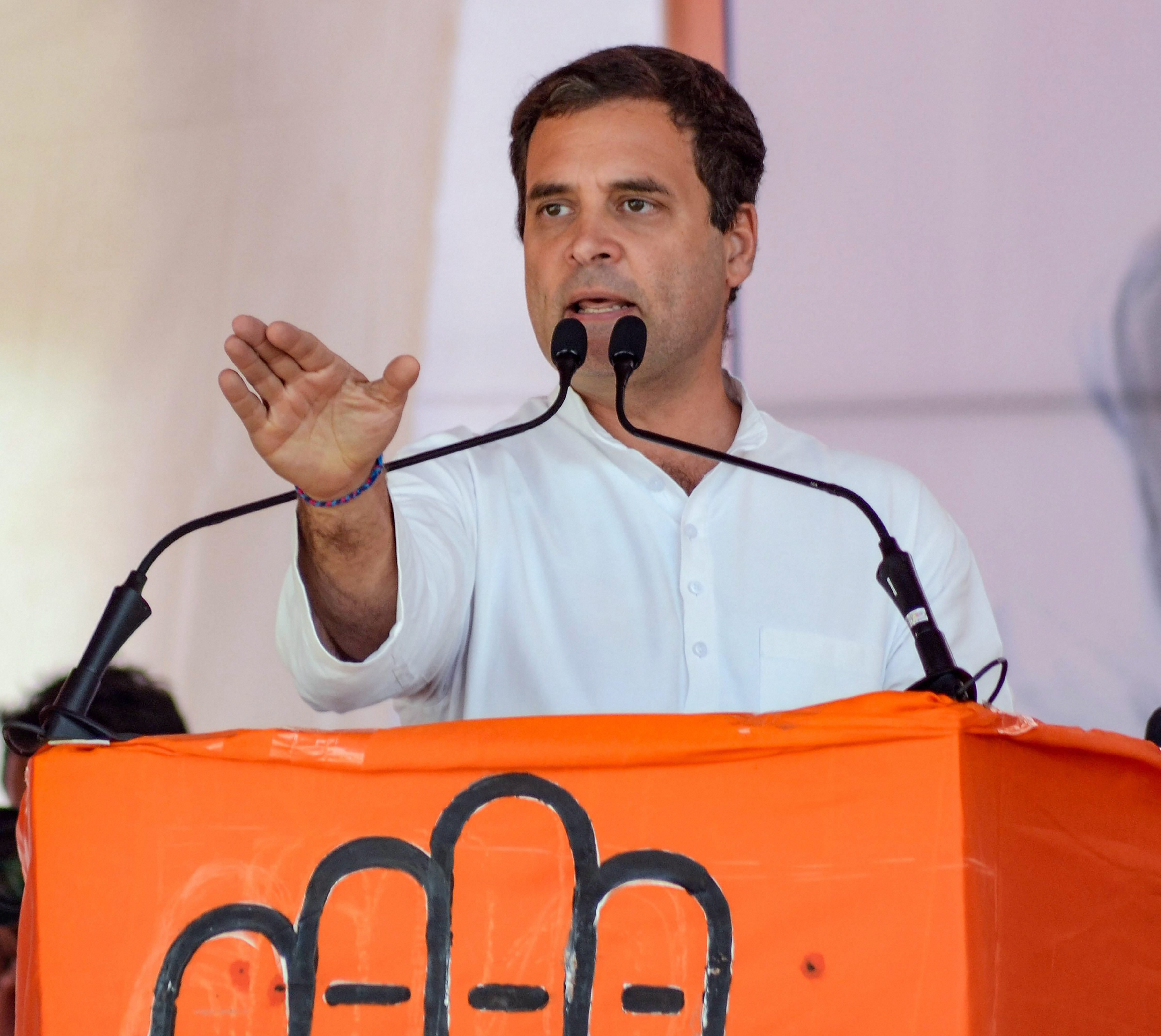 Rahul Gandhi takes bull of faith by its horns