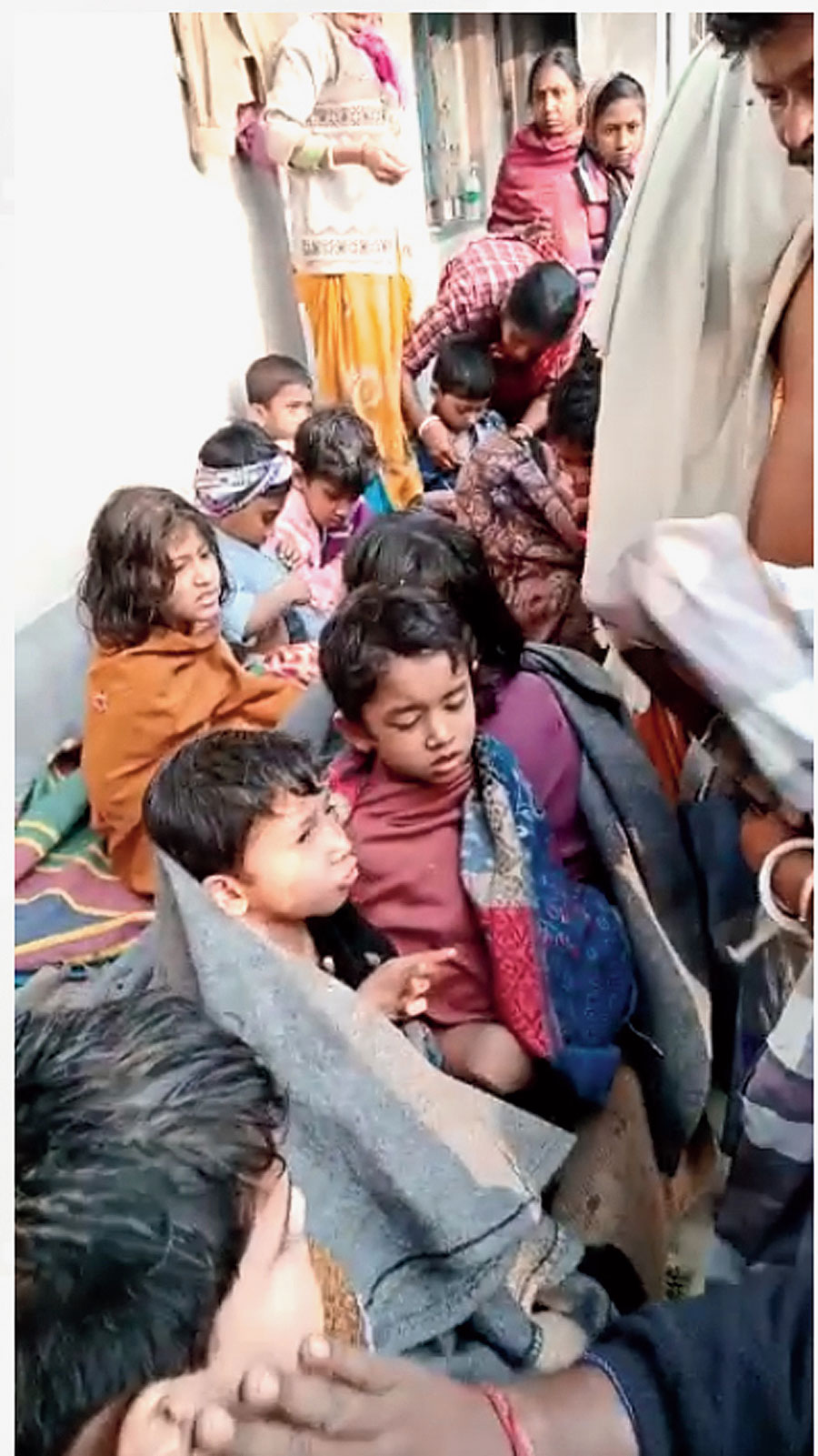 Some of the rescued children