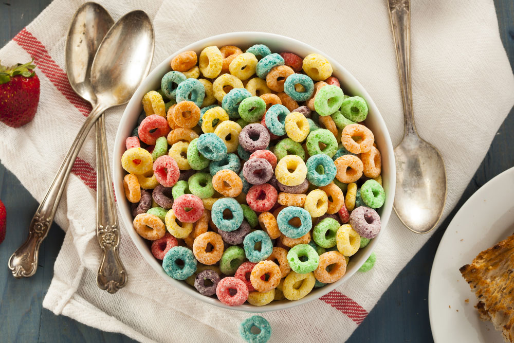 """Sugar-containing processed foods are ubiquitous and can add up quickly for unsuspecting consumers. In the documentary, That Sugar Film, the filmmaker quickly developed health problems after eating """"healthy"""" foods like cereal and juice containing 40 teaspoons of sugar a day."""