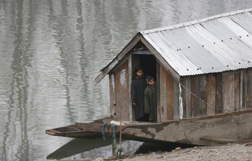 Srinagar shivered at minus 4.2 degrees Celsius on Friday night.