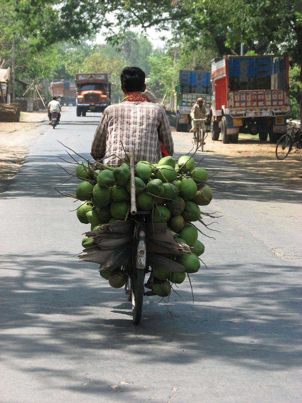 """Daaab. Daab chai, daaaab,"" is one of the earliest cries of the day. (Daab means tender coconut.)"