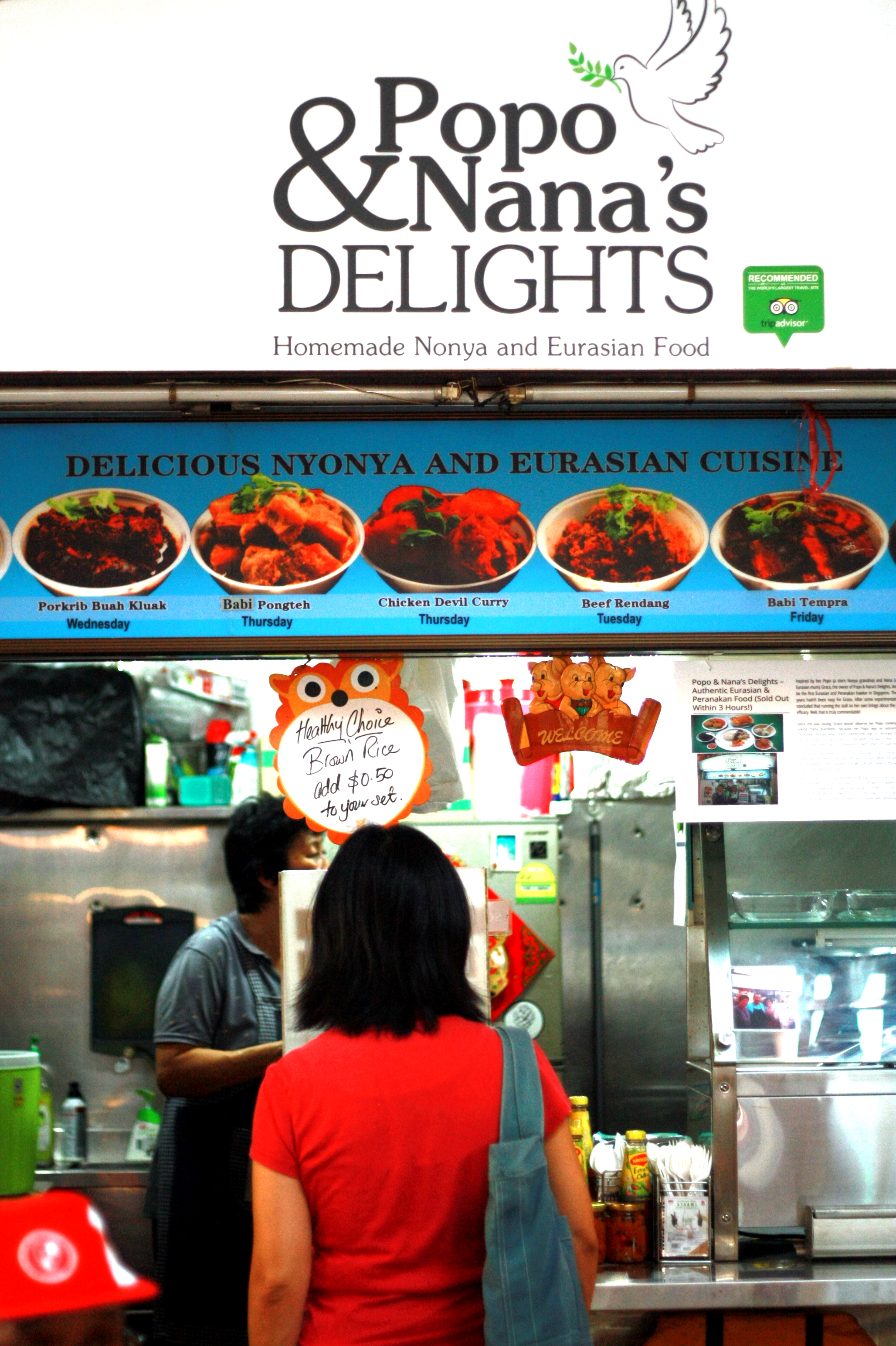 At Popo and Nana's Delights, a small eatery at Chinatown's Maxwell Food Centre, the Nyonya Beef Rendang is available for S$6