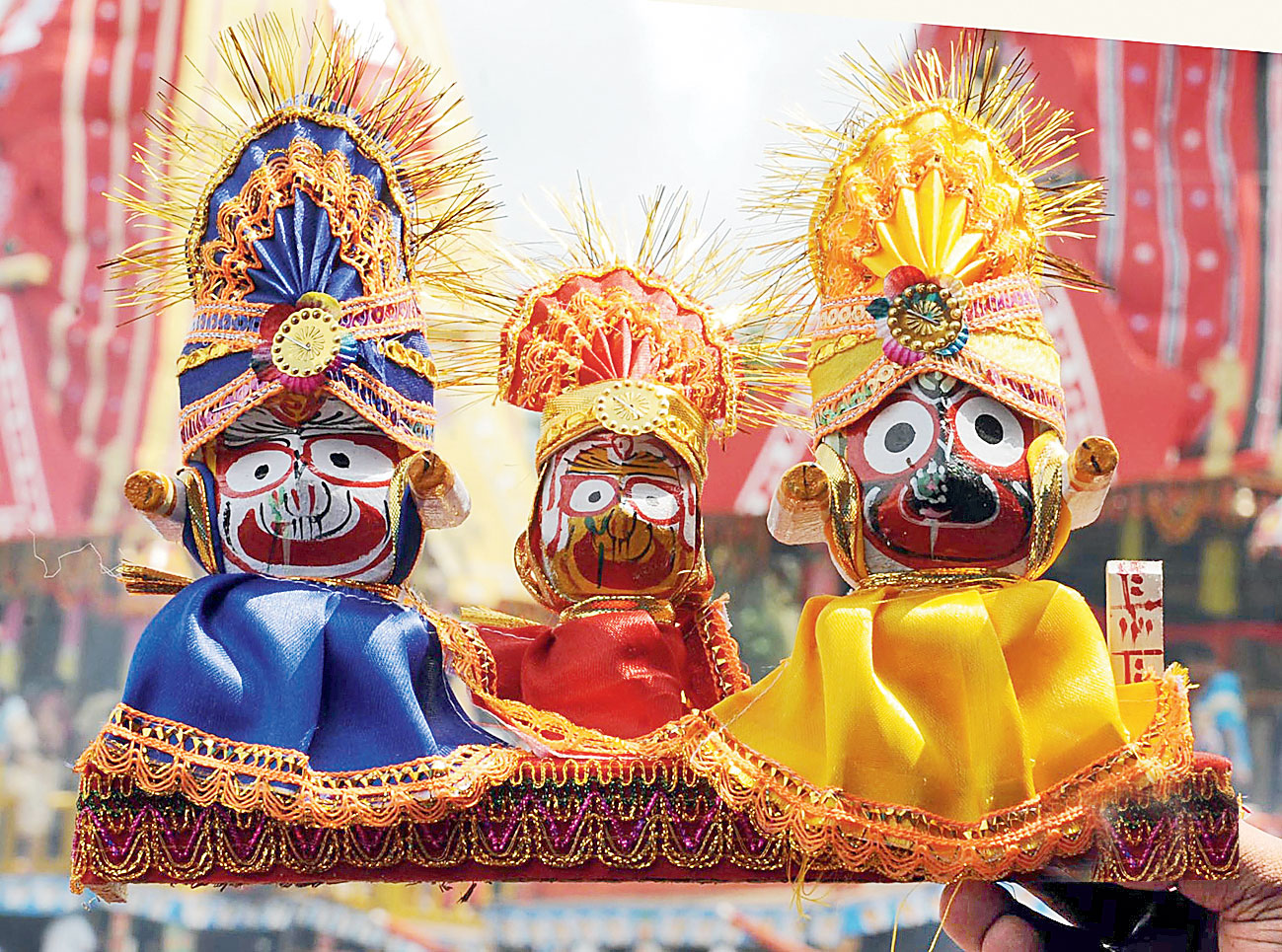 Lord Jagannath and his siblings