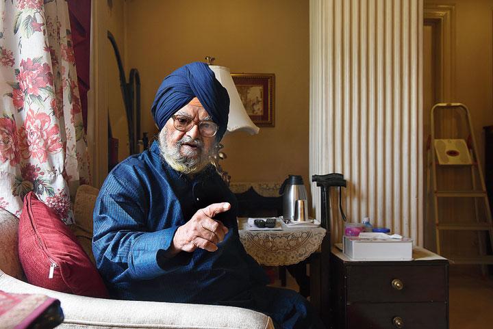 Sardar Saran Singh at his Alipore flat.