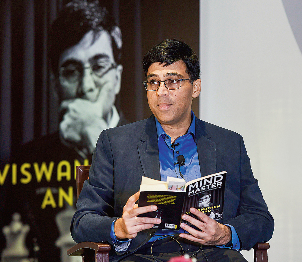 Viswanathan Anand at the release of 'Mind Master: Winning Lessons from a Champion's Life', in Chennai. Priced at Rs 599, 'Mind Master: Winning Lessons from a Champion's Life' by Viswanathan Anand (as told to Susan Ninan) is available in bookstores and online