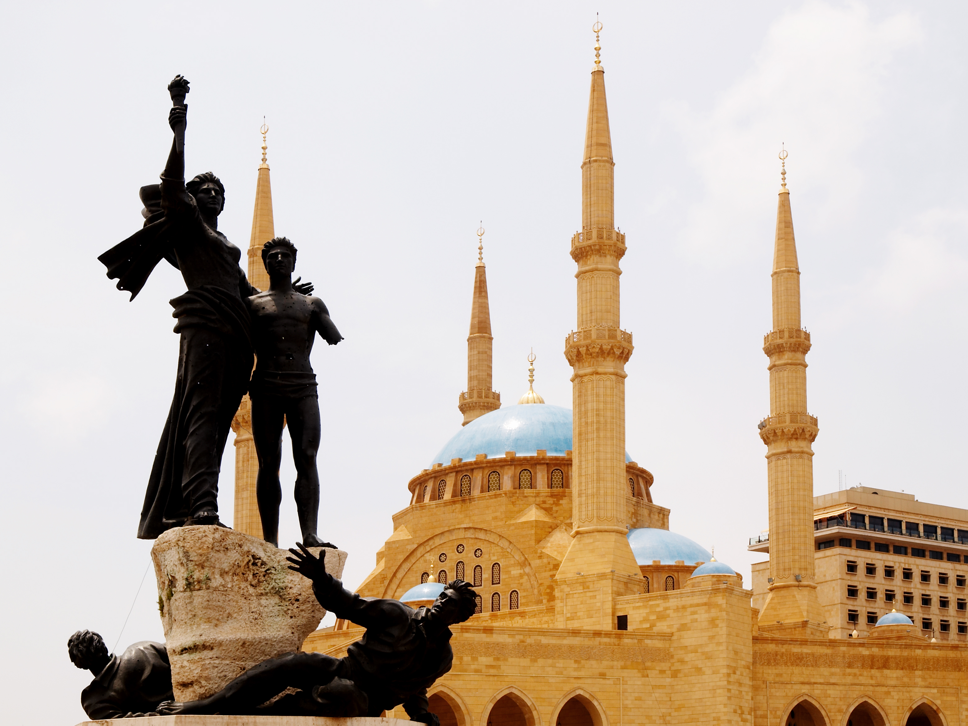 Martyrs Square – the historic city centre, named to commemorate the martyrs executed there during Ottoman rule, and the Mohammad Al-Amin Mosque, also called the Blue Mosque