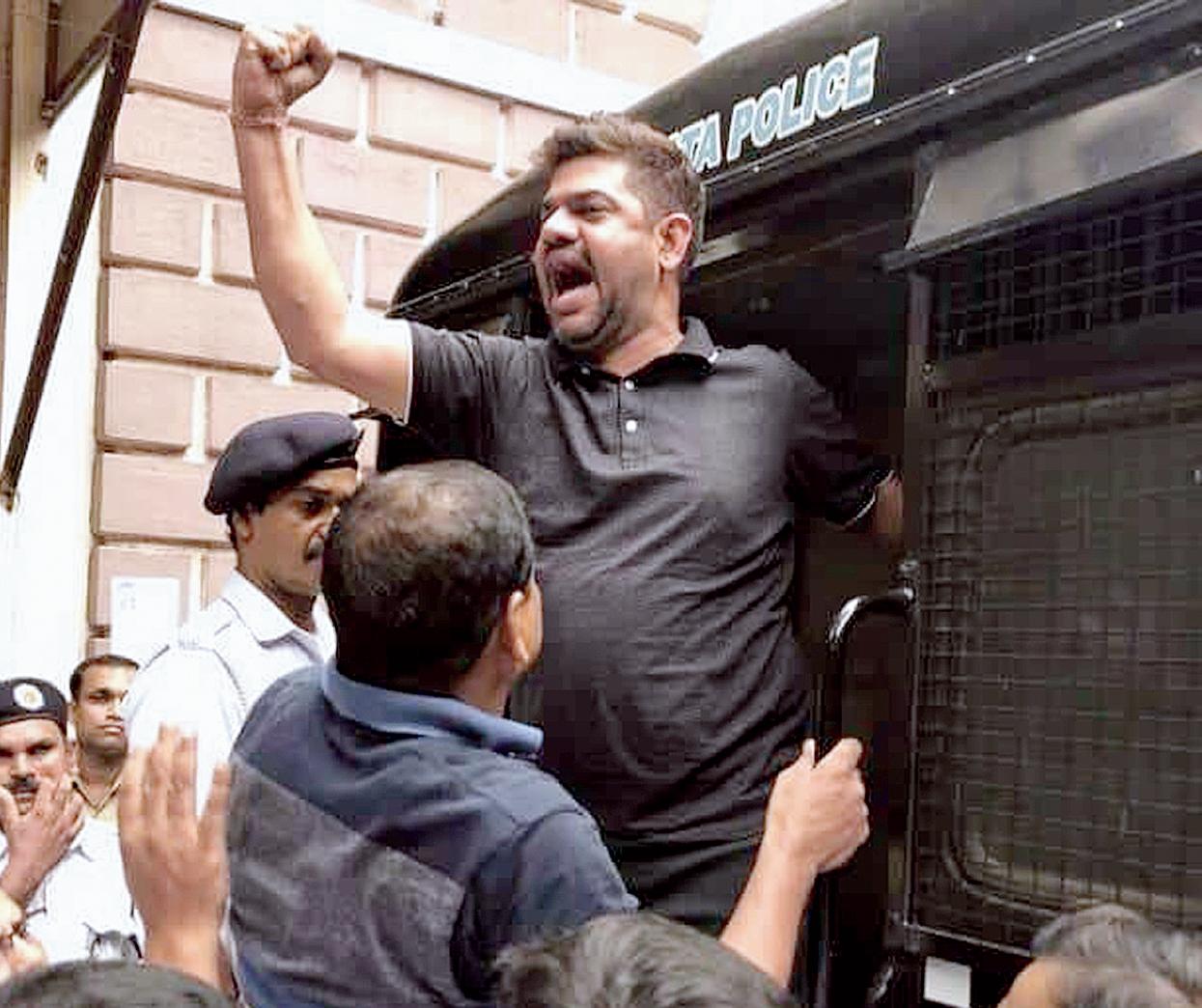 BJP leader Rakesh Singh after he was arrested last week