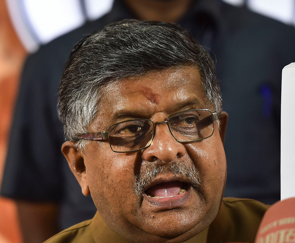 Union law minister Ravi Shankar Prasad had informed all the states and Union Territories about the plan in September