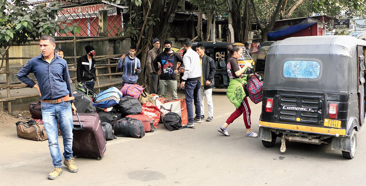 Passengers stuck during the ongoing protests in Guwahati