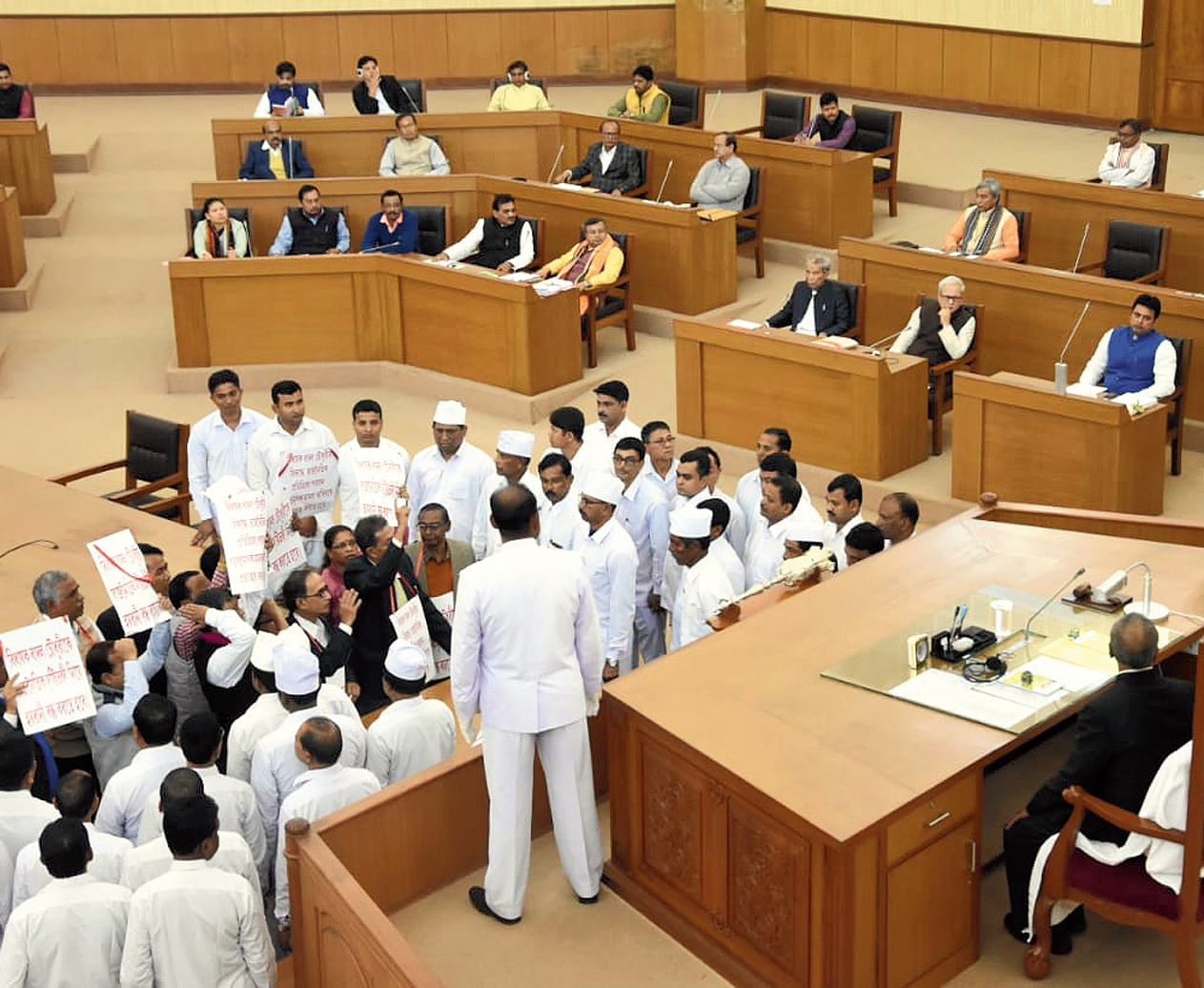 CPM members in the Assembly on Friday
