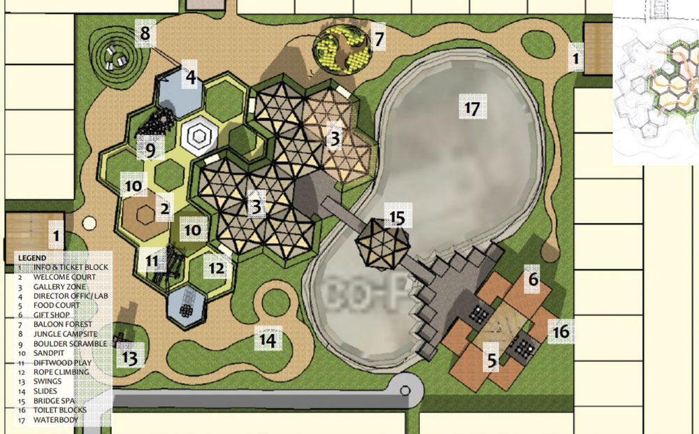 Artist's impression of the upcoming sensory park in New Town