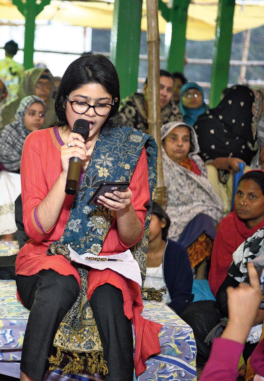 Nazreen recites a poem written by her