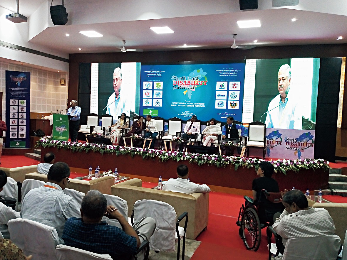 K.V.S. Rao addresses a session during the summit on Saturday.