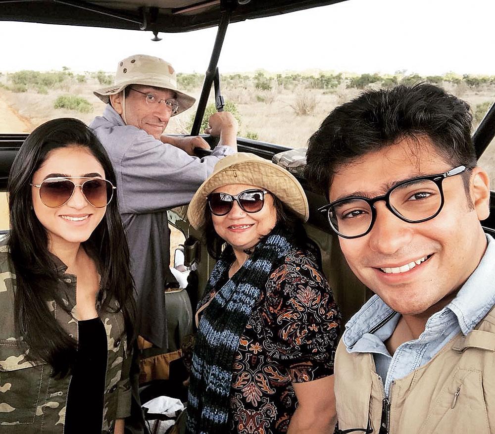 The family on a safari