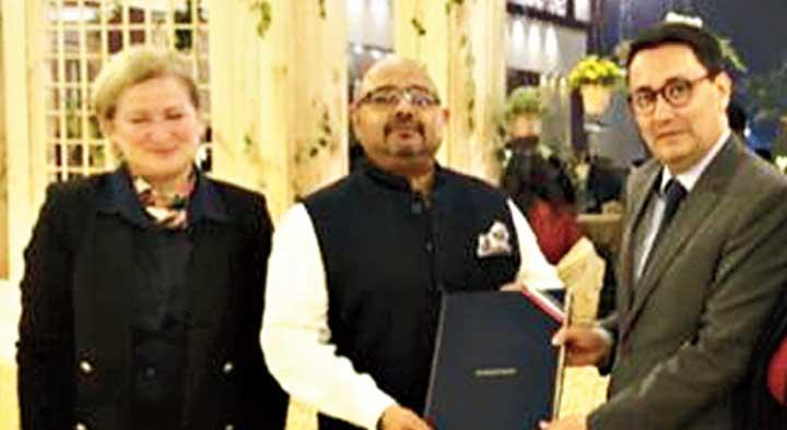 (From left) Consul general Virginie Corteval; tourism and home secretary Atri Bhattacharya and ambassador Ziegler