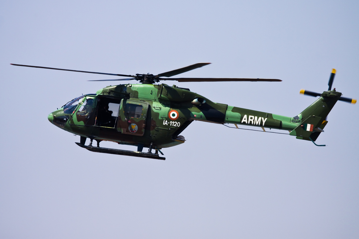 (Representational image) The single-engine helicopter was on its way from Khirmu in Arunanchal Pradesh to Yonphula in Bhutan when it went out of radio and visual contact soon after 1 pm.