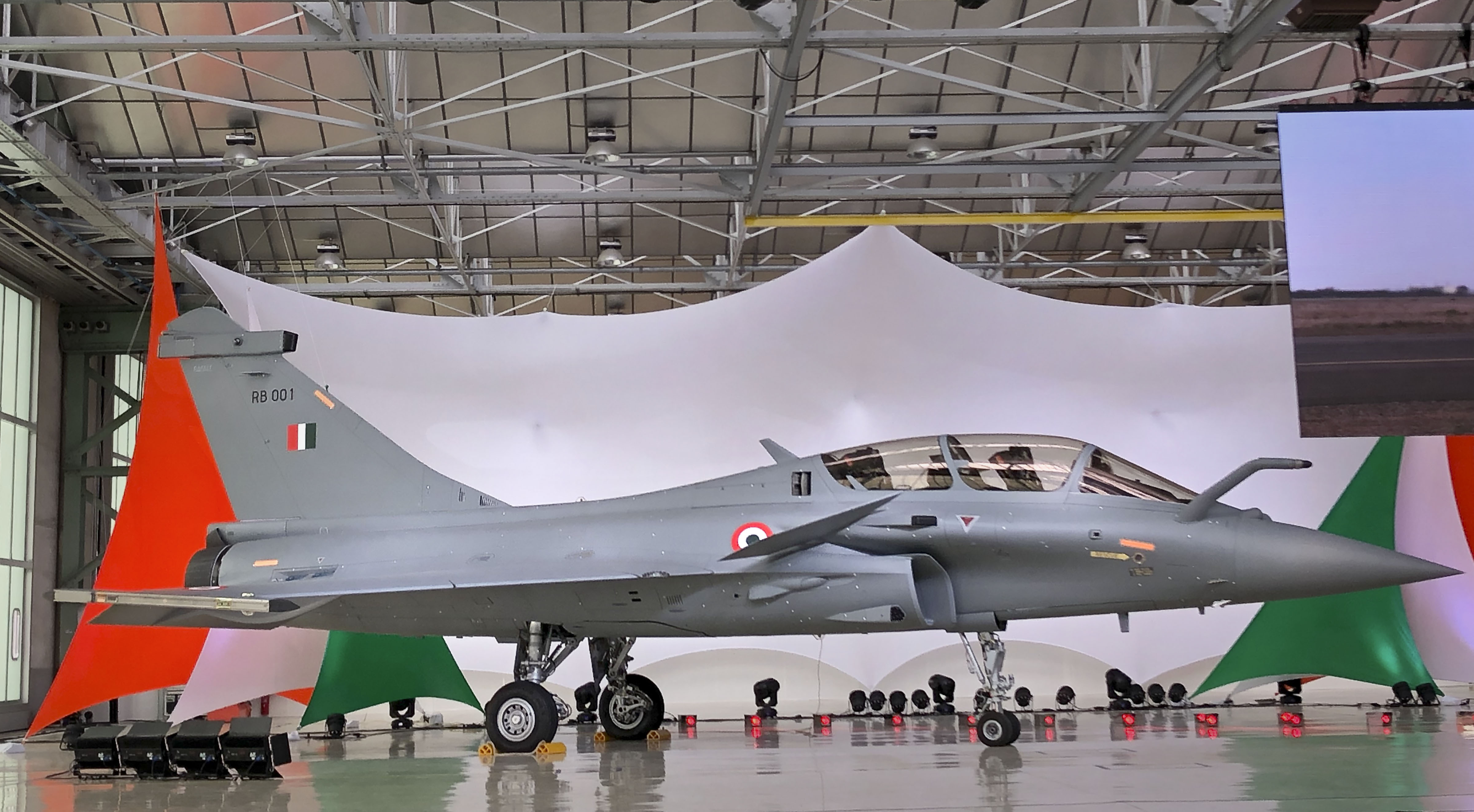 A view of the Rafale jet at its Dassault Aviation assembly line, in Bordeaux, France, Tuesday, October 8, 2019.