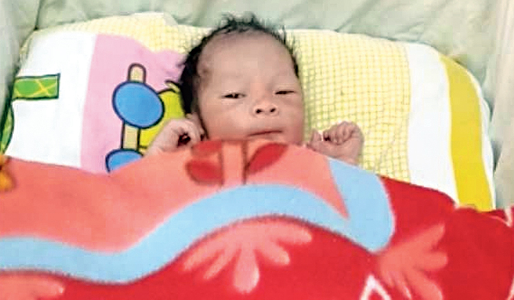 The boy born 35,000ft above sea level in Indian airspace on a Boeing 777 on Tuesday