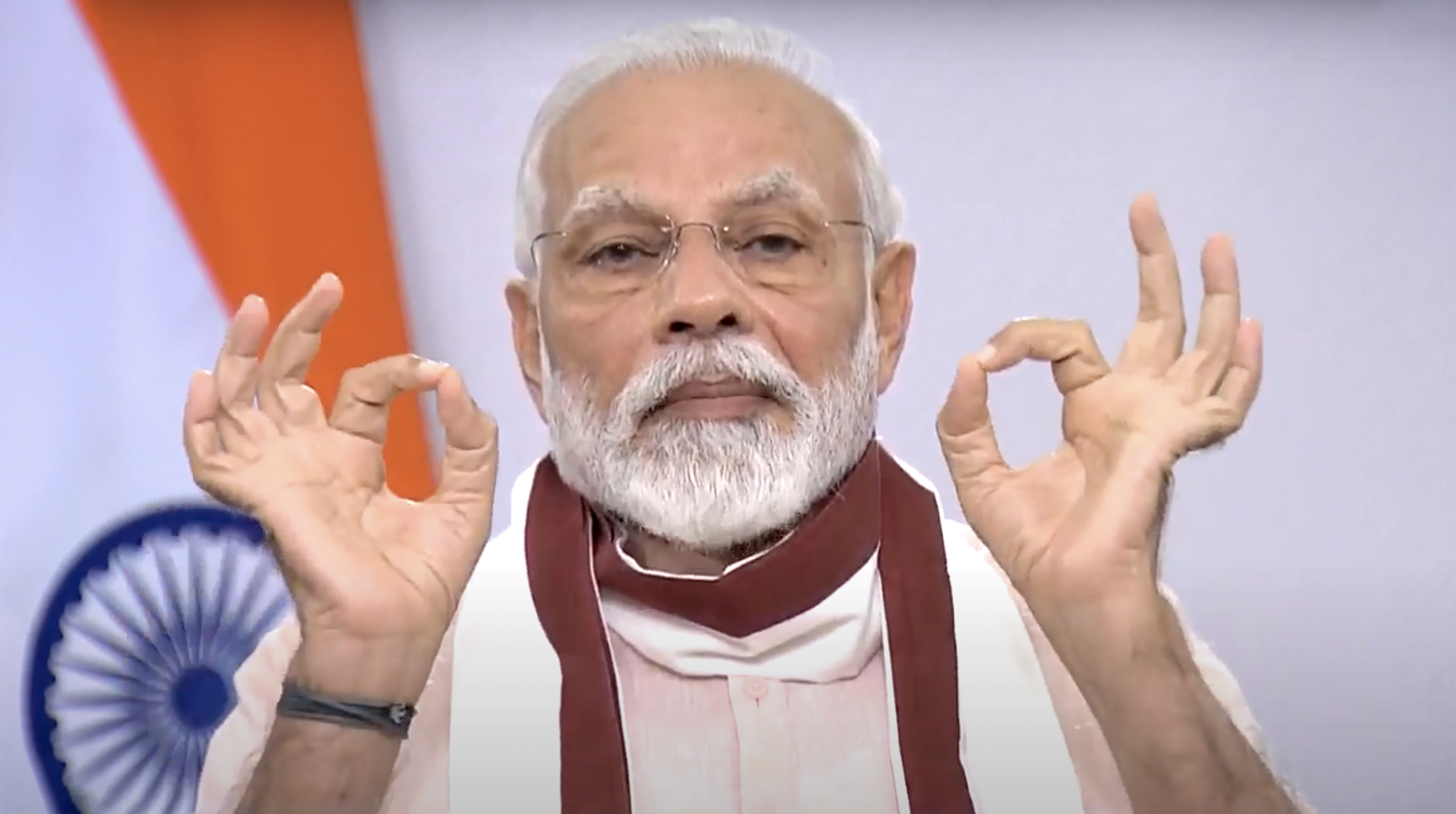 Prime Minister Narendra Modi addresses the nation during the ongoing nationwide Covid-19 lockdown, in New Delhi, Tuesday, May 12, 2020.