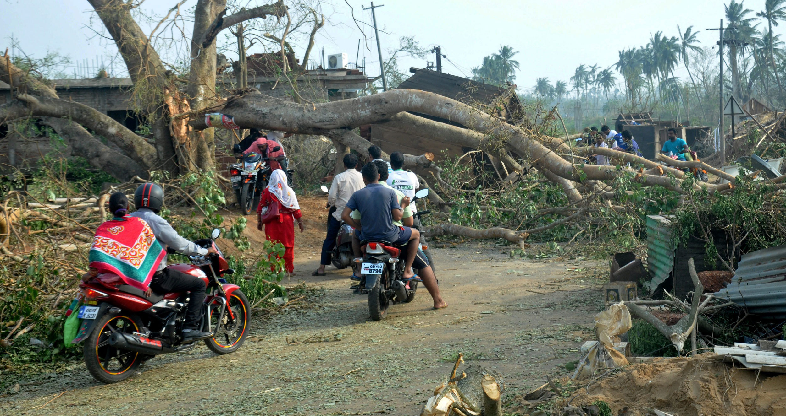 A view of the destruction caused by Cyclone Fani, in Puri, on May 4, 2019.