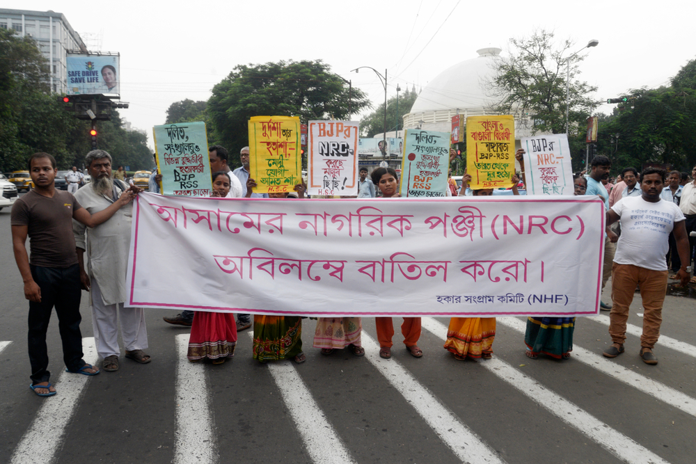 Protest against the National Register of Citizens in Calcutta in August 2018. The Left should take a strong stand on this issue.
