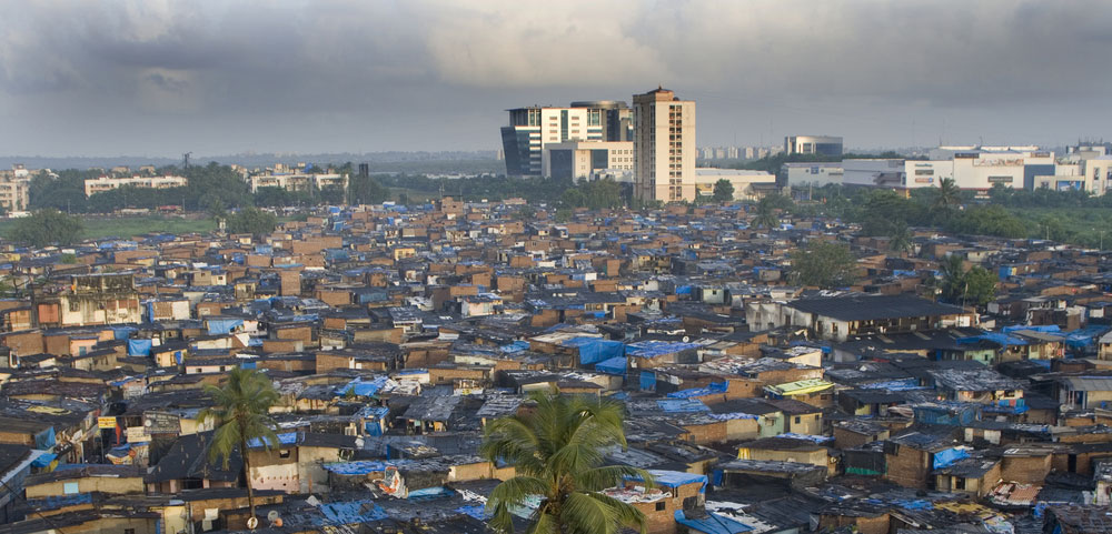A view of Dharavi, Mumbai. Regardless of the party in power at the centre, the economic agenda is more or less the same: let private capital thrive and let the poor get budgetary doles, which are usually insultingly inadequate given their depth of deprivation