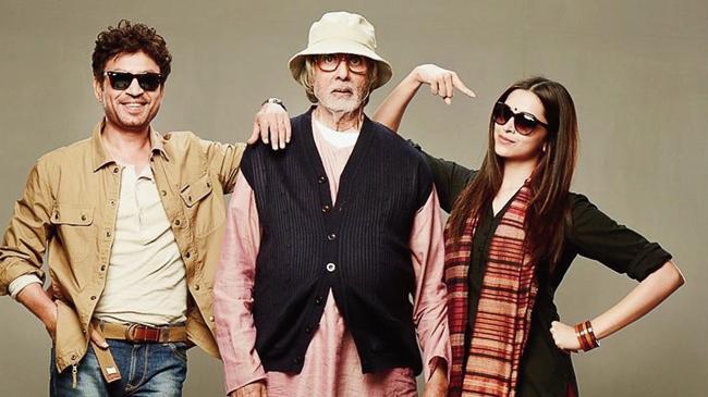 Irrfan Khan, Amitabh Bachchan and Deepika Padukone