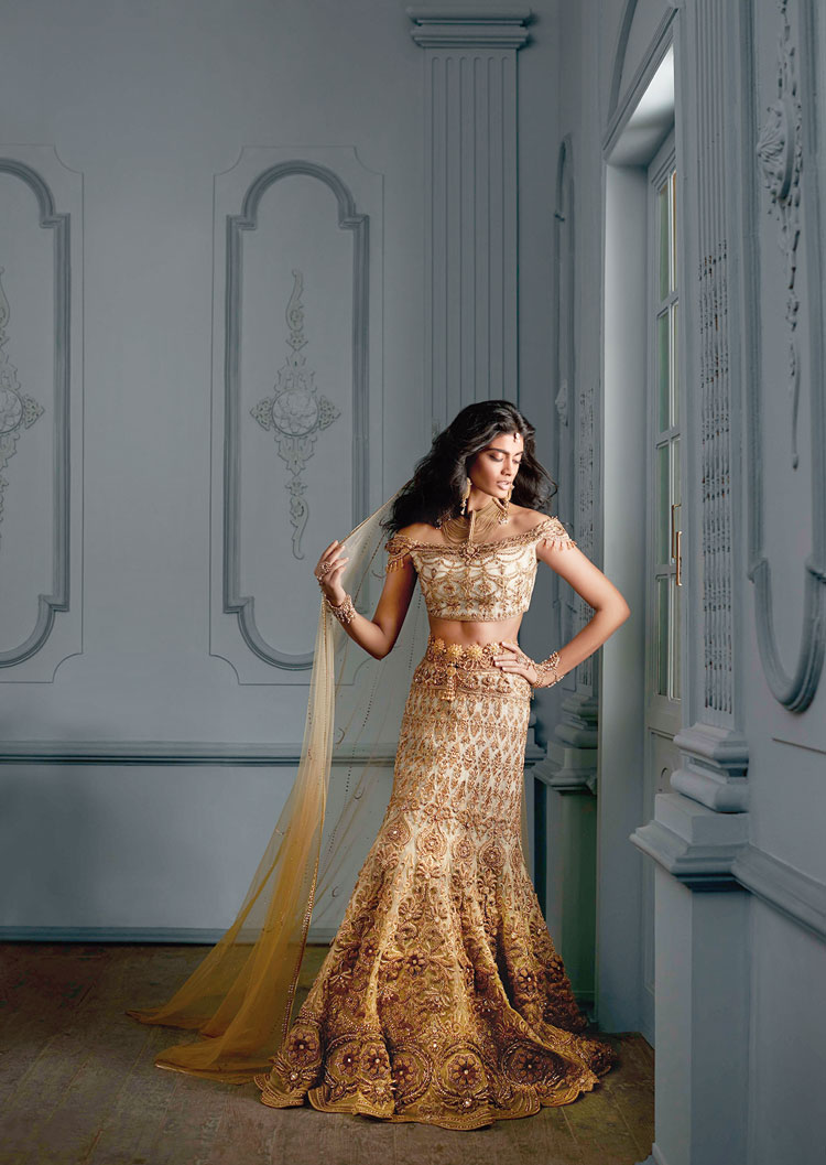 Bridals are an important part of Tarun's work