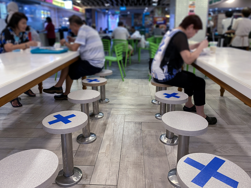 While fine dining restaurants generally have the space and may not need to reduce the number of covers, casual restaurants and cafes that have tables closer together might need to halve the seating arrangement.
