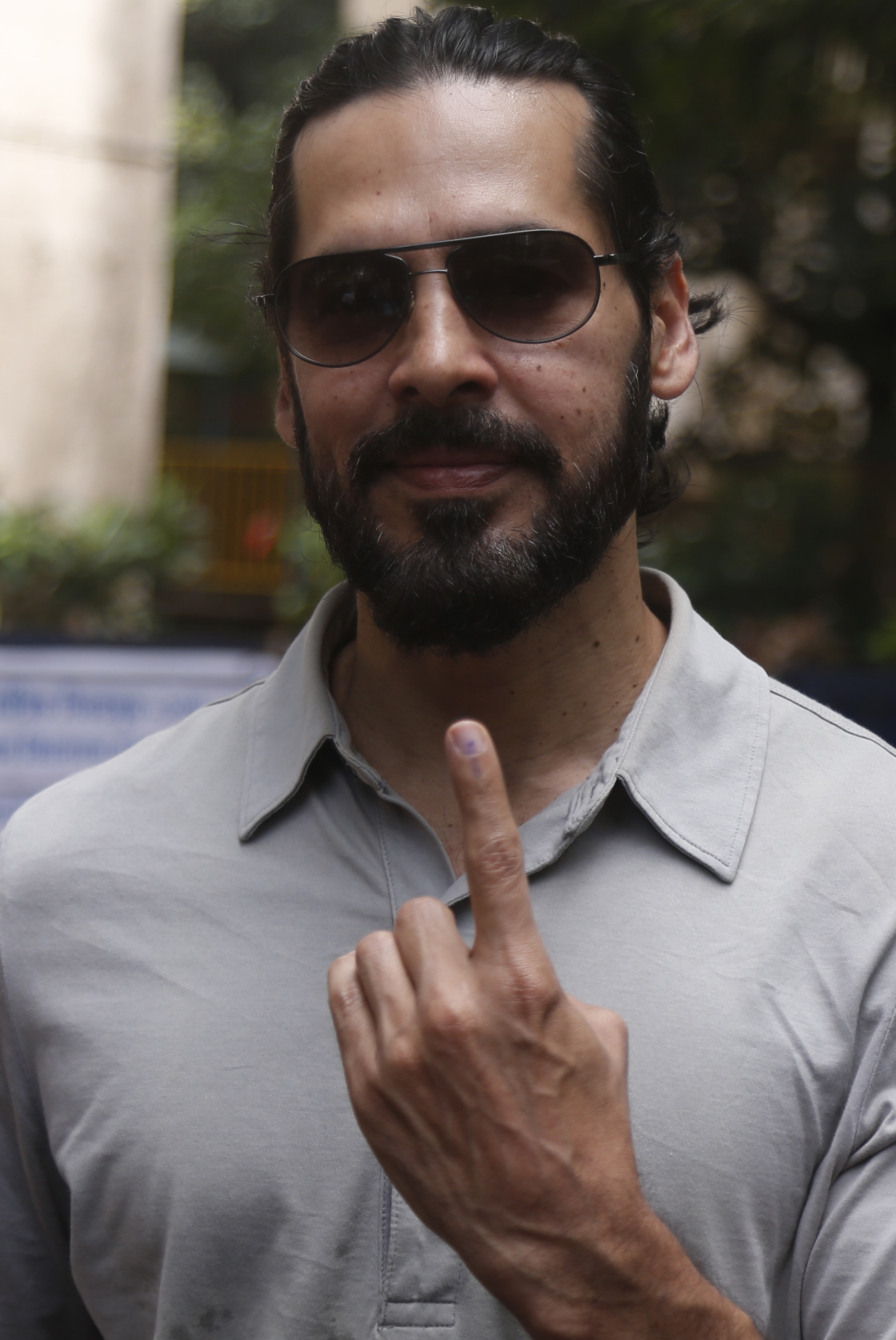 Model and actor Dino Morea after voting