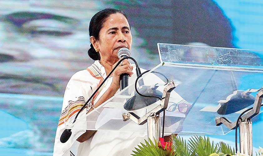 Mamata Banerjee in Krishnagar on Thursday.