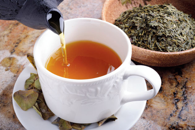 The antioxidants in green tea have an anti-inflammatory effect on the lungs