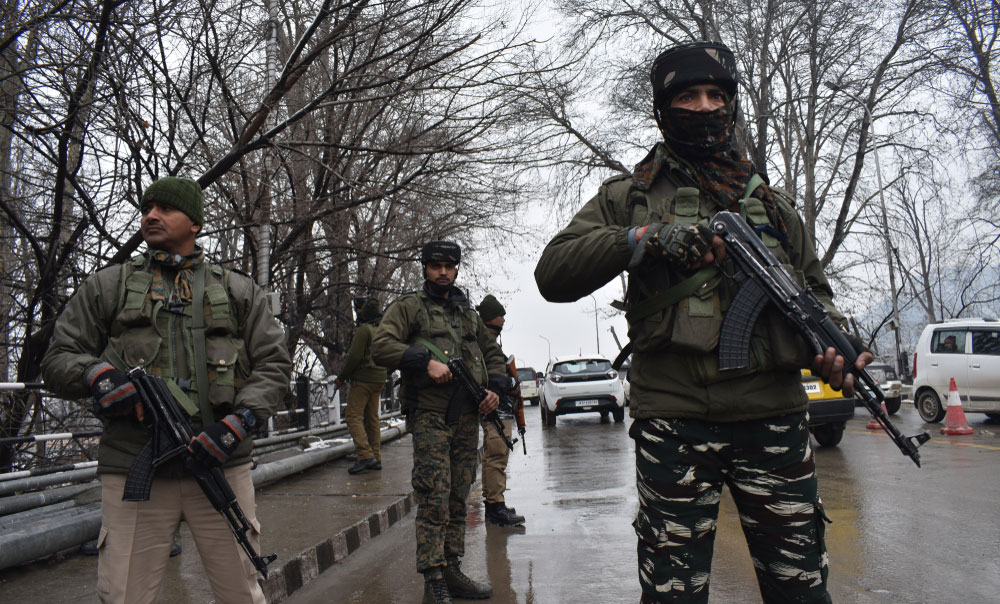 Soldiers in Jammu and Kashmir's Srinagar