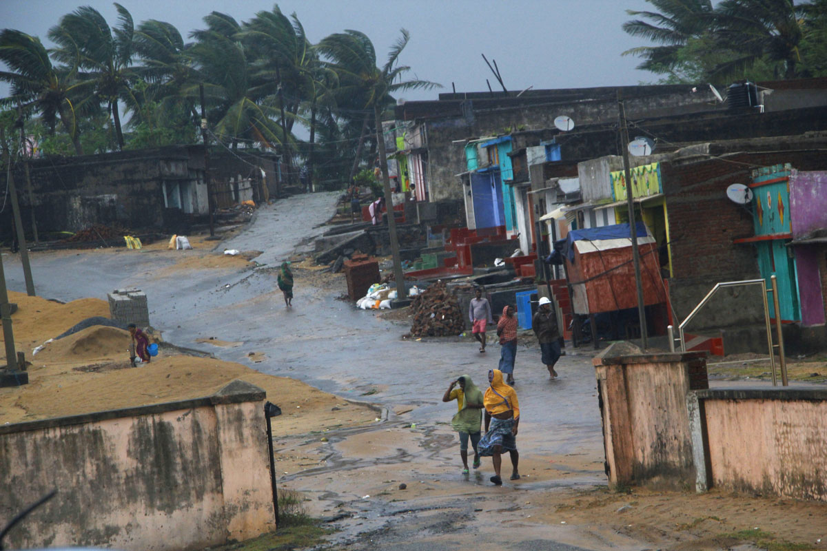 Cyclone 'Titli' hits the coast in Ganjam on Thursday