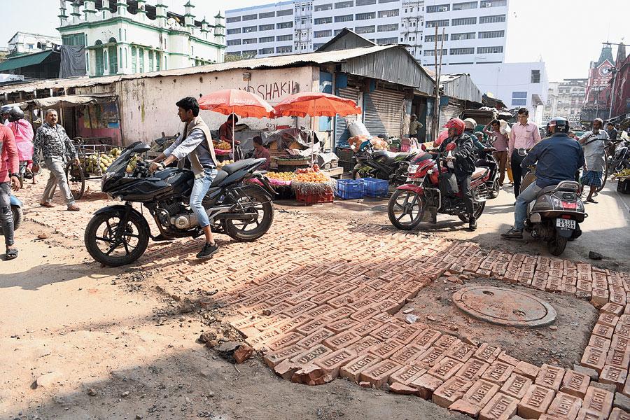 Market Street, temporarily restored on Thursday