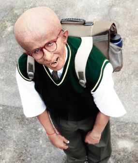 Amitabh Bachchan, then in his late-60s, underwent a complete transformation to play the part of a 13-year-old boy suffering from the genetic disorder called progeria in Paa.
